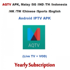 AQTV APK, Malay/SG/IND/TH/Indonesia/HK/TW/Chinese/Sports/English Android IPTV Subscription